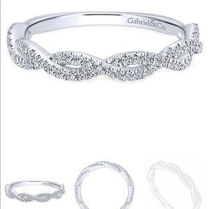 Gabriel Infinity 14k White Gold Diamond Band